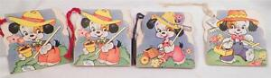 4-Vintage-Bridge-Score-Cards-Puppy-Dogs-1950s-A-Meri-Card-AS-IS-CONDITION