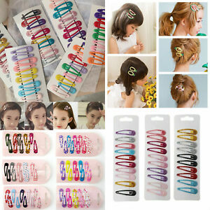 10Pcs-Pack-Girls-Kids-Pin-Barrette-Hairpin-BB-Snap-Hair-Clips-Hair-Accessories