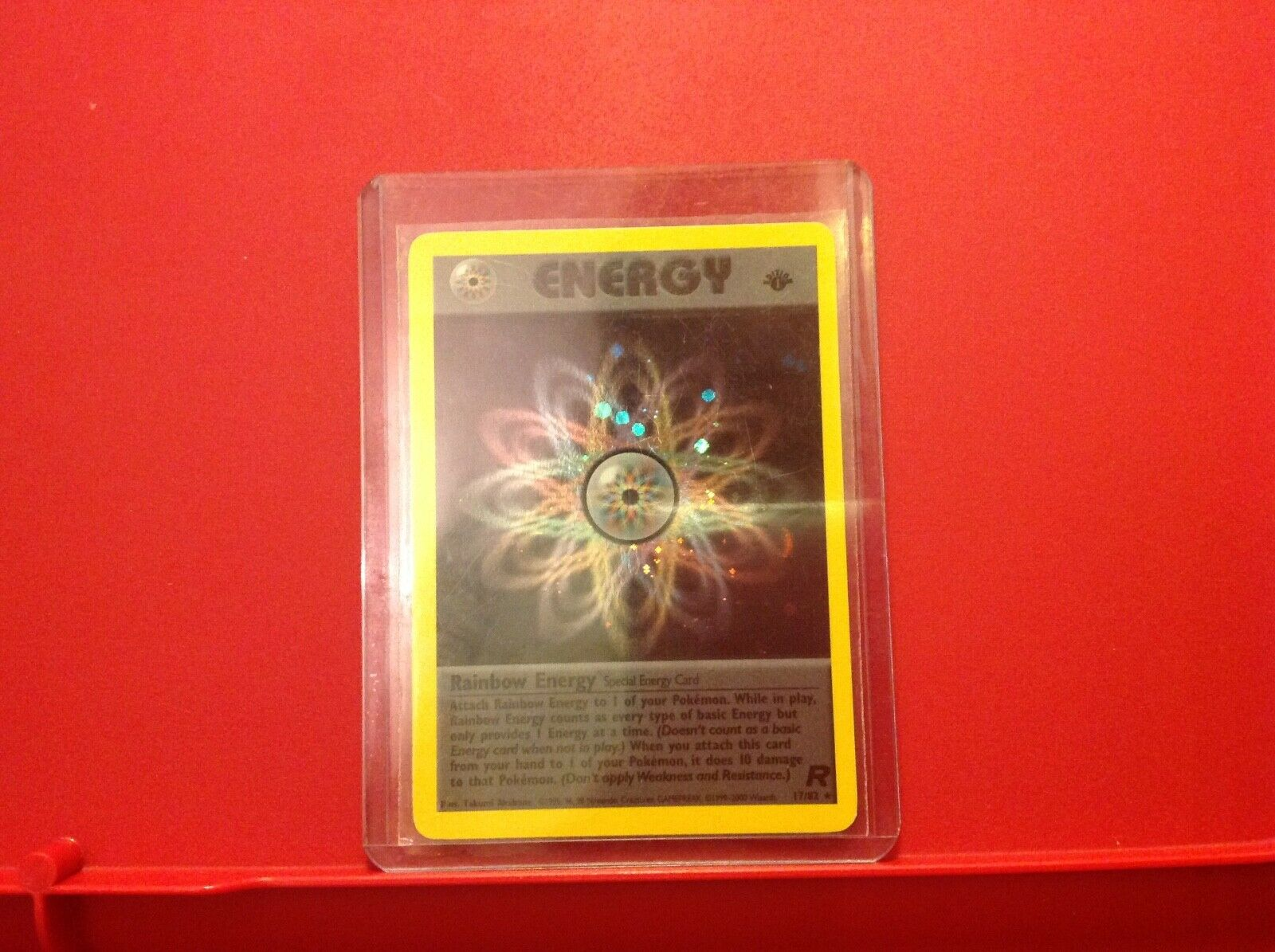 Pokemon Holographic Energy card-17 82-Excellent Condition