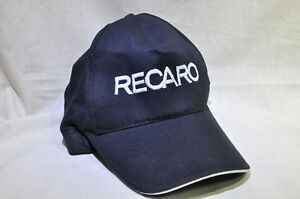 NEW Cool Black Adjustable Snapback Cap Hat with Embroidered Recaro ... f53c7484a