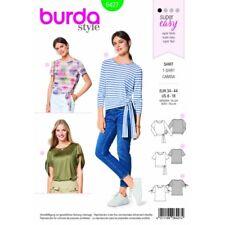 Free UK P/&P Burda Ladies Easy Sewing Pattern 6527 Stand Collar Blouse T...