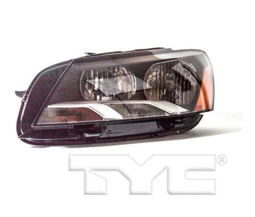 TYC Left Driver Side Halogen Headlight for Volkswagen Passat 2012-2014