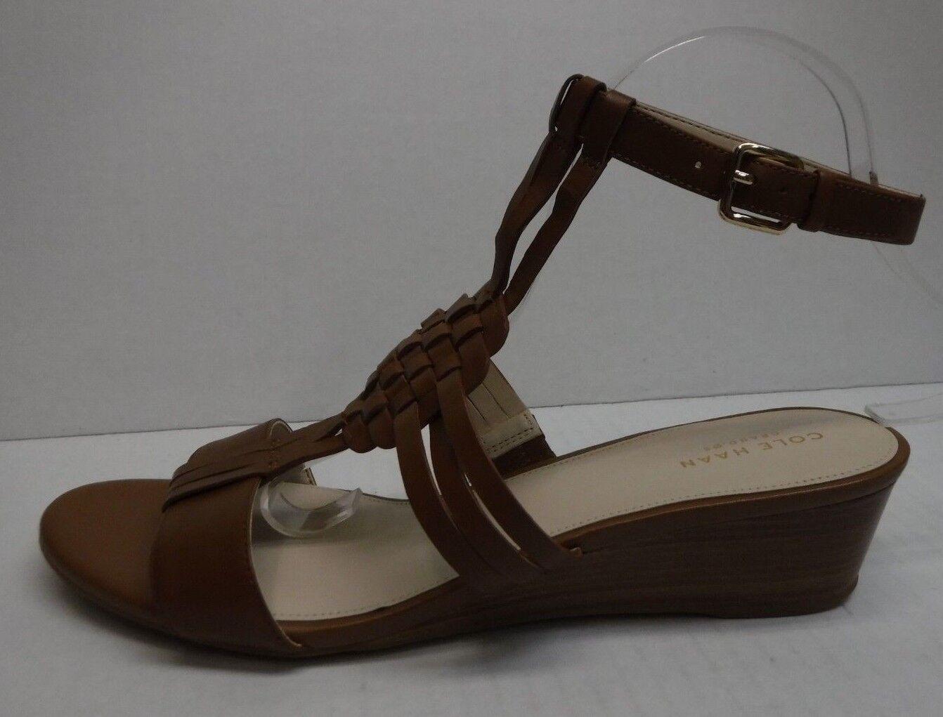 Cole Haan Größe 7.5 Braun Leder Wedge Wedge Wedge Sandales New Damenschuhe Schuhes 1cc477