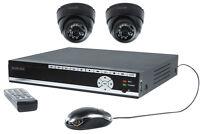 Kit Video Surveillance Securite Dvr 2 Camera Domes + Cables + Disque Dur 500go