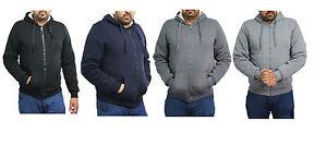 Uomo-In-Finta-Pelliccia-Foderato-Felpa-con-Cappuccio-Zip-Cappotto-Invernale-Giacca-In-Pile-Cerniera