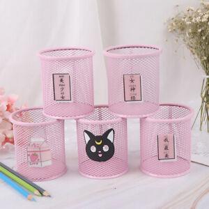 Kawaii-Pen-Holder-Pink-Storage-Box-Household-Manage-Case-Pencil-Pen-Hold-NTAT