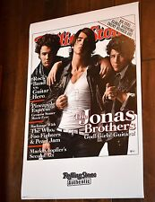 JONAS BROTHERS SIGNED ROLLING STONE POSTER BECKETT BAS LETTER OF AUTH#A80142