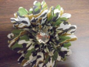 """Clothing, Shoes & Accessories Kids' Clothing, Shoes & Accs Friendly Beautiful 4"""" Camo Flower Bow Hair Clip Accessories Center Large Rhinestone"""