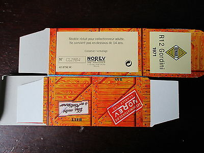 BOITE VIDE NOREV   RENAULT R12 GORDINI 1971 EMPTY BOX CAJA VACCIA