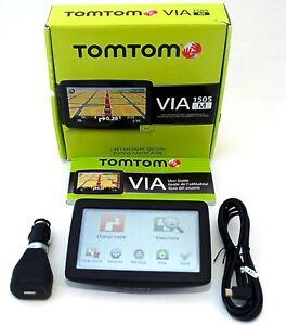 NEW-TomTom-VIA-1505M-1505-M-Car-5-034-LCD-Portable-GPS-LIFETIME-US-Canada-Mex-MAPS