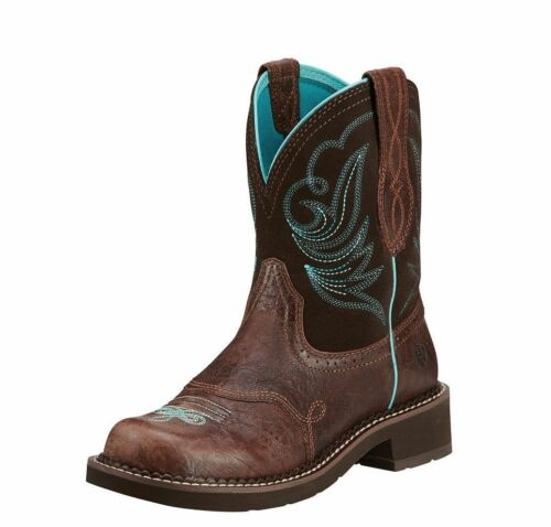 Femme Ariat Brown Chocolate Fudge Cowgirl Bottes Fatbaby 10016238
