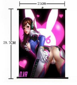 Hot-Anime-Blizzard-Game-Overwatch-D-VA-Home-Decor-Poster-Wall-Scroll-8-034-12-034-02