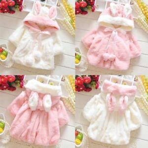 Kid-Girl-Toddler-Coat-Rabbit-Ear-Hooded-Fleece-Winter-Warm-Jacket-Snowsuit-0-24M