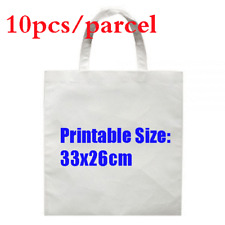 10pcs Blank Dye Sublimation Shopping Bag Small For Heat Transfer