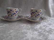 Pair of Kutahya Porselen Etem Hoca Demitasse Cup & Saucer