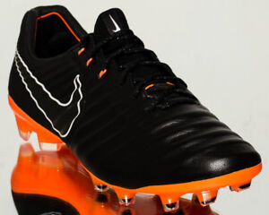 Nike Tiempo Legend VII Elite FG men soccer cleats NEW black orange ... 380742d2e9d0
