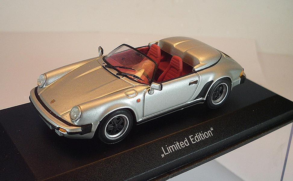 Minichamps 1 43 Porsche 911 Carrera Cabriolet Metallic argent neuf dans sa boîte  2300