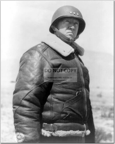 GENERAL GEORGE S PATTON U.S 8X10 PHOTO CC608 ARMY