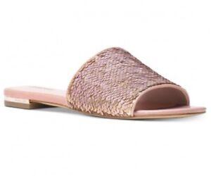 2043f9339dfe Image is loading Michael-Kors-9-5-Shelly-Slide-Sequins-Sandals-