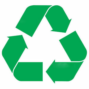 5 inch Recycle Symbol Vinyl Decal Sticker Trash Cans ...