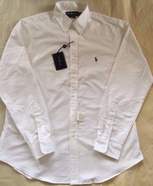 6b3dd6616 Ralph Lauren Luxury Oxford White Button Down Shirt Classic Cotton ...