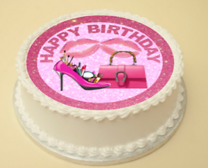Image Is Loading SHOE Amp HANDBAG HAPPY BIRTHDAY EDIBLE CAKE