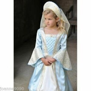 New-Girls-Kids-Childs-Deluxe-Rich-Royal-Tudor-Princess-Queen-Fancy-Dress-Costume