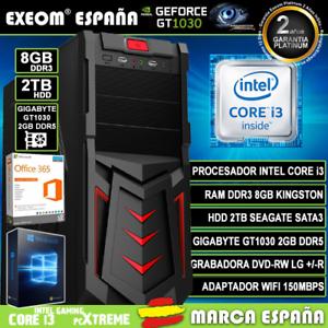 Ordenador-Gaming-Pc-Intel-i3-8GB-2TB-GT1030-2Gb-OC-Wifi-Sobremesa-Windows-10-Pro