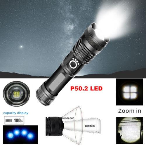 9900000 Lumen-Zoomleiste XHP50 5 Modi LED USB Wiederaufladbar 26650 Taschenlampe