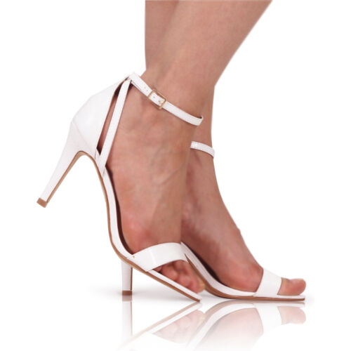 LADIES WOMENS HIGH MID HEEL PEEP TOE SHOES SANDAL PARTY CASUAL ANKLE STRAP