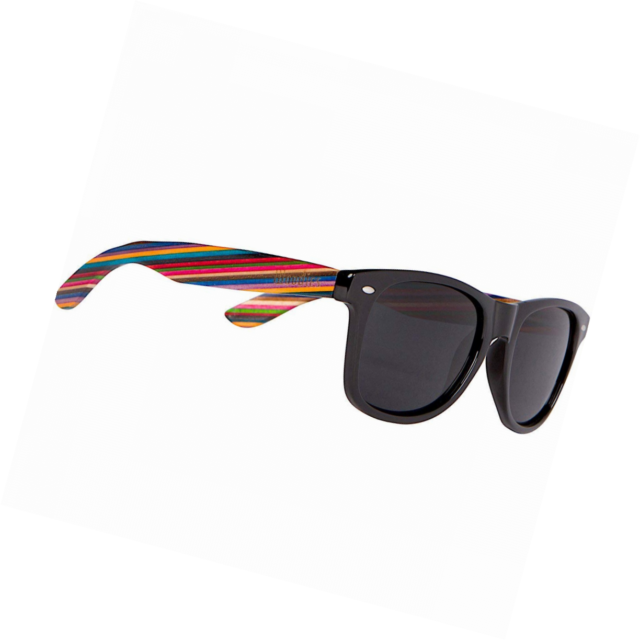 18f067a68e2d0 Woodies Rainbow Wood Wayfarer Sunglasses With Black Polarized Lenses for  sale online