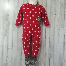05f97cfb2 3m Carter s Christmas Pajamas Embroidered Reindeer Red White Polka ...