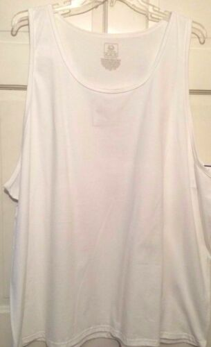 Mens Tank T-shirt White Fruit of the Loom Scooped Neckline Comfortable NWT 2XL