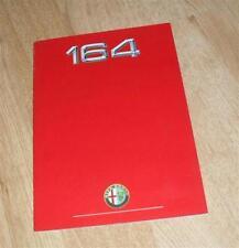 Alfa Romeo 164 Brochure 1988 3.0 V6 & 3.0 V6 Lusso