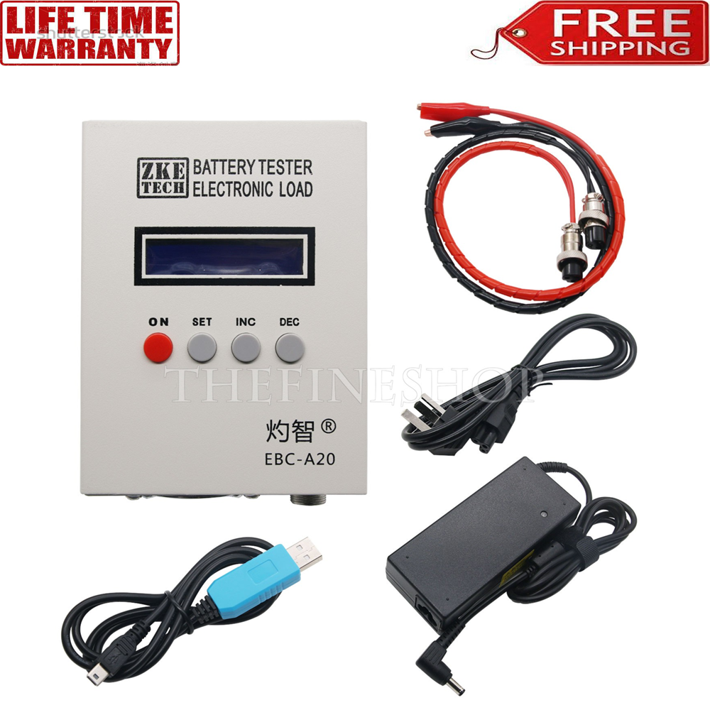 EBC-A20 Li-po Battery Capacity Tester 5A Charge 20A Discharge 85W Current Test