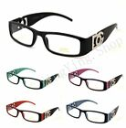 DG Clear Lens Rectangular Frames Glasses Designer Optical RX Womens Mens (354)