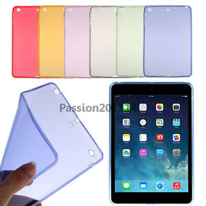 low priced fc686 8a38b Details about Ultra Thin Soft TPU Silicone Clear Case Cover For Apple iPad  mini 1 2 3 4 air 5