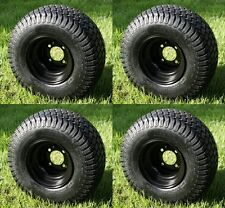 "(4) 18x8.5-8, Turf / Street Golf Cart Tires & Wheels ""3+4 Offset"" Set of 4"
