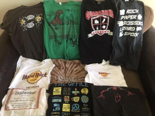 Lot Of 10 Men's Shirts M L XL Rare VTG Pop Culture