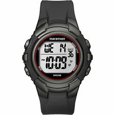 Timex T5K642, Men's Marathon Resin Watch, Indiglo, Alarm, Stopwatch, T5K642M6