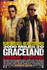 3000 MILES TO GRACELAND Movie POSTER 27x40 Kevin Costner Kurt Russell Christian