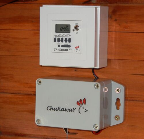 Chuxaway SCX Automatic Chicken Door Opener - Coop / Pop Hole Opener with Timer