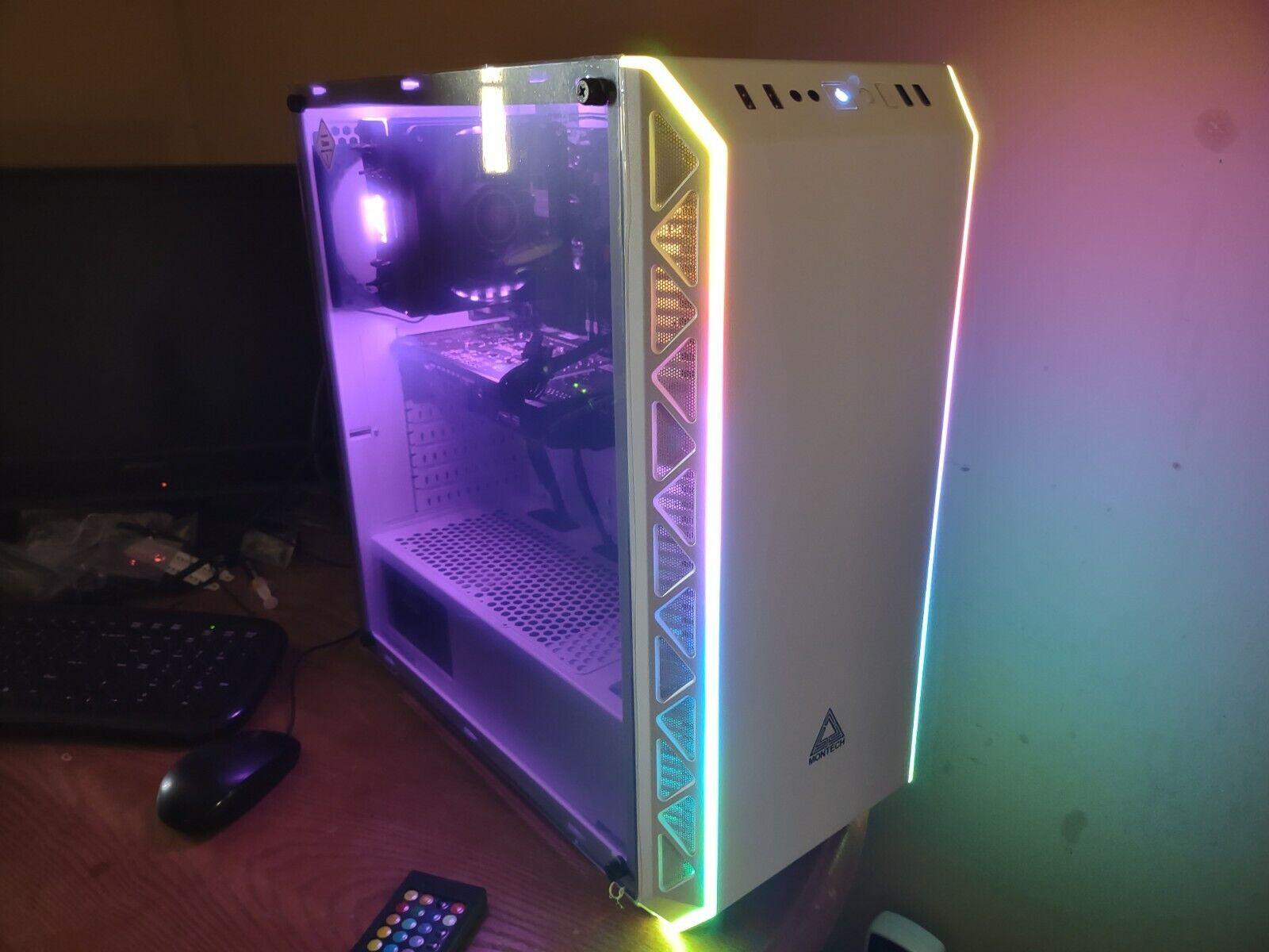 White RGB Gaming PC / Intel / Nvidia