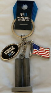 9-11-MEMORIAL-KEYCHAIN-Charms-WTC-Twin-Towers-amp-USA-Flag-SEPTEMBER-11-2001-911