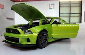 Spielzeugautos Ford Mustang 2014 GT weiß straßen-rennwagen 1:24 skala-modelle Super Modellauto