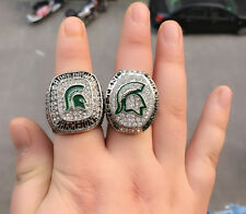 2 Set 2013 2015 Michigan State Spartans Big Ten Championship Ring Fans Gift !!
