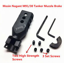 Mosin Nagant 91/30 Bolt on Tanker Style Muzzle Brake Triangular Baffles