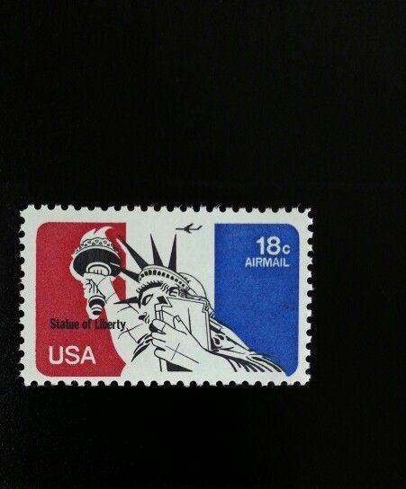 1974 18c Statue of Liberty, Airmail Scott C87 Mint F/VF