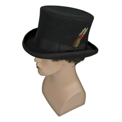 Adult Mad Hatter Steampunk Victorian Dickens Madhatter Cosplay Costume Top Hat