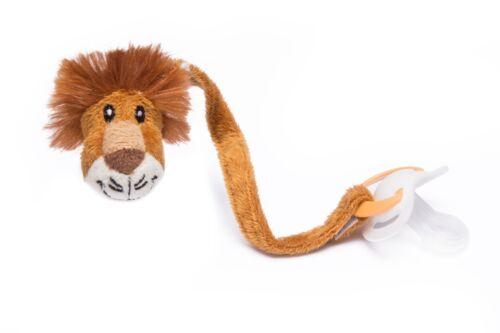 Lion Dummy clip safari des anges clips de Tétine Tétine Chaîne 360 °